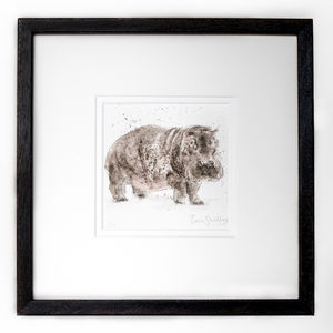Limited Edition, Magnificent Beasts Print, Hippo - animals & wildlife