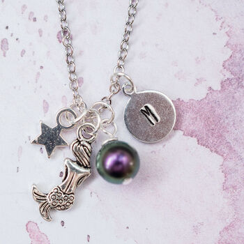 Personalised Mermaid Charm Necklace