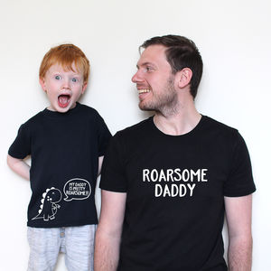 Father's Day 'Roarsome Daddy' Twinning Set - children's dad & me sets