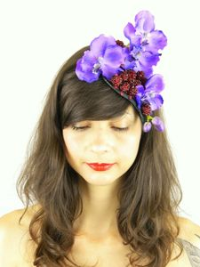 Orchid Cascade Fascinator Headpiece