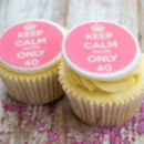Keep Calm Birthday Cupcake Decorations