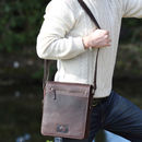 Luxury Leather Messenger Bag