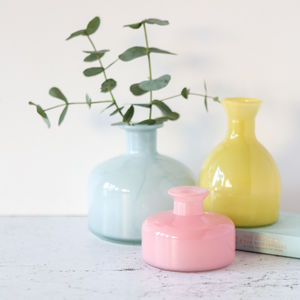 Colourful Glass Bottle Vase - home accessories