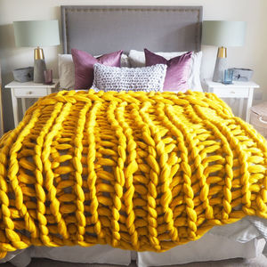 Digby Chunky Hand Knitted Throw - blankets & throws