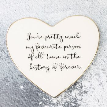 'Favourite Person' Heart Coaster