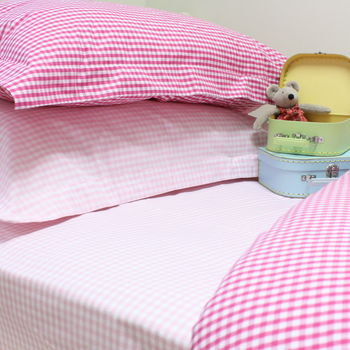 Gingham Duvet Sets, Three Colours Available