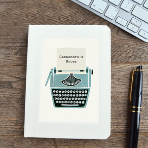 Personalised Typewriter Notebook - gifts for her
