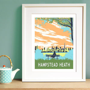 Hampstead Heath Screen Print - limited edition art