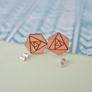 Geometric Rose Earrings