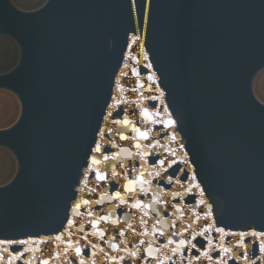 Champagne Gold Shooting Star Christmas Bauble