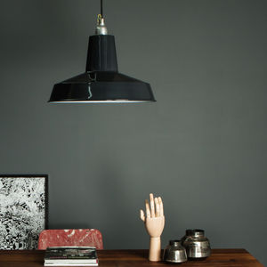 Linton Enamel Factory Industrial Pendant Light