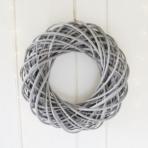 Greywashed Large Willow Wreath
