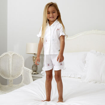 Girl's Personalised Butterfly Cotton Short Set Pj