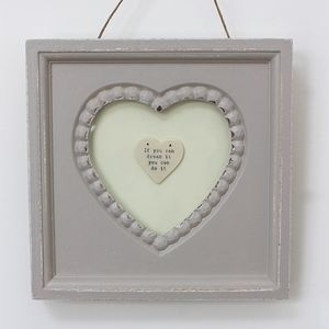 'Dreams' Vintage Heart Framed Picture