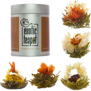 Flowering Tea Sampler Tin Five Different Blooms - teas, coffees & infusions