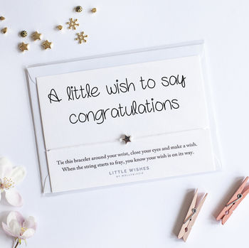 A Handmade Wish Bracelet Gift To Say Congratulation