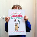 Personalised Big Christmas Bear Card