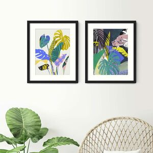 Bold Botanical Prints Set Of Two