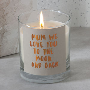 Personalised Message Scented Candle