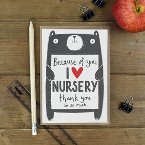 Thank You Nursery Teacher Card