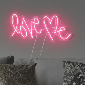 'Love Me' Handmade Neon Sign - our home