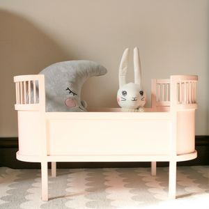 Handmade Scandinavian Wooden Dolls Bed - toys & games