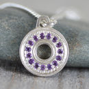 Pave Amethyst Necklace With Recycled Sterling Silver