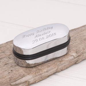 Personalised Cufflink Box - cufflink boxes & coin trays