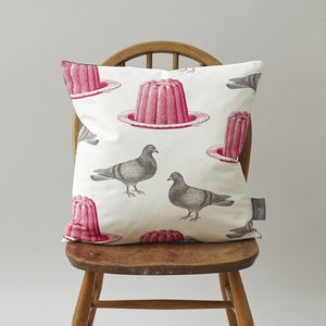 Classic Pigeon And Jelly Cushion