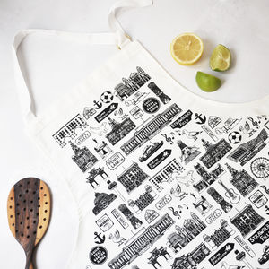 Illustrated Liverpool Apron - kitchen accessories