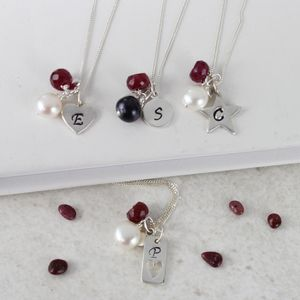 Personalised Birthstone Necklace - necklaces & pendants