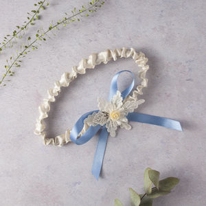 Charlotte Leaf Motif Band Wedding Garter - wedding fashion