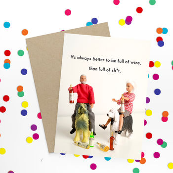Wine Rude Funny Card
