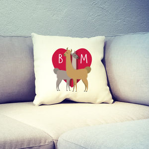 Personalised Llama Lovers Cushion Cover - kitchen accessories