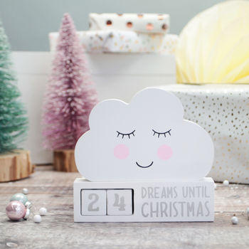 Dreamy Countdown To Christmas Cloud Decoration