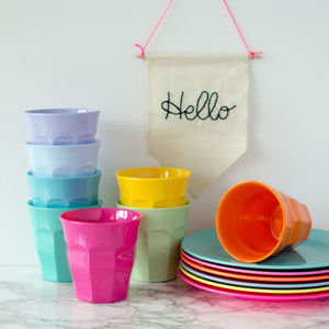 Solid Colour Bright Melamine Cup Or Plate - picnics & barbecues