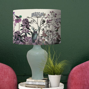 Wildflower Blush Botanical Lampshade
