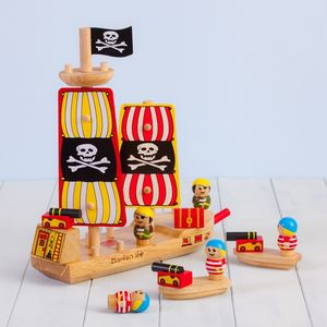 Personalised Wooden Pirate Ship Toy - toys & games
