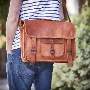 Handmade Leather Laptop Bag