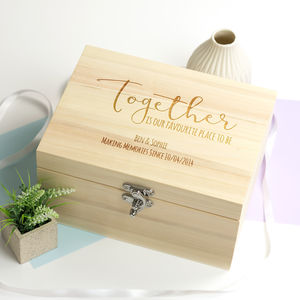 Personalised Together Keepsake Box - keepsake boxes