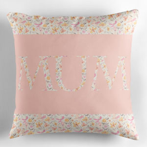 Mum Floral Pastel Cushion