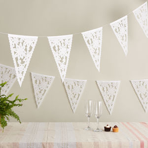 Floral Lace Bunting From Mexico - room decorations
