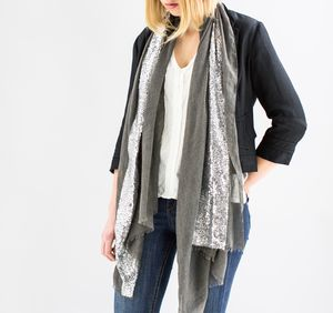 Sequin Edged Personalised Scarf - gifts for her