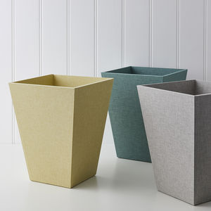 Luxury Paper Bin In Linen