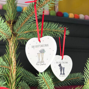 Personalised First Married Christmas Decorations