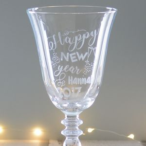 Happy New Year Personalised Wine Glass