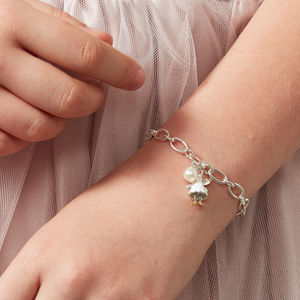White Fairy Wish Charm Bracelet
