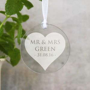 Personalised Anniversary Hanging Disk