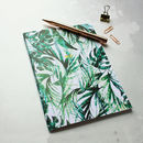 Personalised Name Initials A5 Paradise Palms Notebook