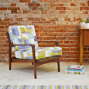 Upcycled Vintage Cintique Armchair